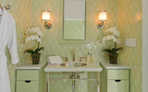 Stylish, clean guest bathroom by MLG Woodworking